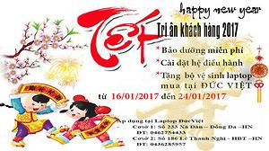Chương trình tri ân khách hàng hàng 2017 - Laptop Đức Việt