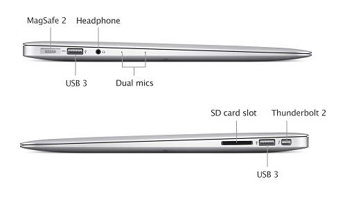 Macbook Ari 2015 với thiết kế nhỏ gọn và tiện lợi